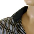 D&G Mens shirt RS0148 TN5FQ Dolce & Gabbana olive striped shirt DGM1011