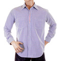 Yoropiko Long Sleeve Soft Collar Regular Fit Blue Check Shirt YORO5301