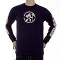 RMC Jeans MKWS Long Sleeve Regular Fit Akasarugumi Kintaro Printed Crew Neck Black T-Shirt REDM5421