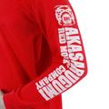 RMC Jeans MKWS Akasarugumi Kintaro Printed Long Sleeve Regular Fit Crew Neck T-Shirt in Red REDM5422