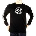 RMC Jeans MKWS Black Crew Neck Long Sleeve Regular Fit Akasarugumi Kintaro Printed T-Shirt REDM5420