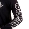 RMC Jeans Crew Neck Akasarugumi Raijin Printed Regular Fit Long Sleeve T-shirt in Black REDM5405
