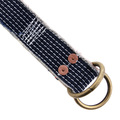 RMC Jeans Japanese Handmade White Embroidered Denim Belt with Unfinished Frayed Edges REDM5457