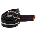 RMC Jeans Japanese Handmade Selvedge Denim Belt in Black Presentation Box REDM5459