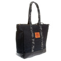 RMC Jeans Unisex Fully Lined Denim Shopper Bag with Leather Base REDM5524
