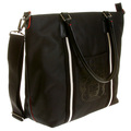 RMC Jeans Detachable Canvas Shoulder Strapped Unisex Black Nylon Shopper Bag with Leather Base REDM5530