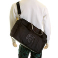 RMC Jeans Nylon Unisex Hand Held Black Despatch Bag with Leather Trim and Base REDM5531