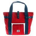 RMC MKWS Unisex Red Canvas Hand Carry Bag with Navy and White Trim and Navy Canvas Handles REDM5582