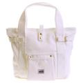 RMC MKWS Versatile Unisex White 100% Cotton Canvas Hand Carry Bag REDM5586