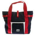 RMC MKWS  Unisex Navy Canvas Hand Carry Bag with Red Canvas Handles and Trim REDM5585