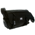 RMC MKWS Unisex Black Canvas Shoulder Bag with Velcro and Clip Flap Closure REDM5577