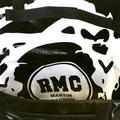 RMC MKWS Unisex PVC Coated Canvas Cotton Cyclist Fashion Shoulder Bag in Metallic Black Shine REDM5560