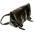 RMC Unisex Large Black Laminated Cotton Canvas Shoulder Cyclist Fashion Bag REDM5559