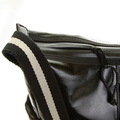 RMC Jeans Unisex Laminated Canvas Fashion Shoulder Cyclist Bag in Black REDM5574