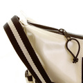 RMC Jeans Mens Unisex Laminated Ivory Canvas Shoulder Cyclist Fashion Bag REDM5571