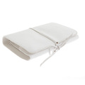 RMC Jeans Bill Fold Credit Card Italian Grain Leather Wallet in White REDM5703