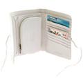 RMC Jeans Bill Fold Credit Card Italian Grain Leather Wallet in White REDM5703