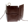 RMC Jeans Brown Italian Grain Leather 3 Fold Credit Card Wallet for Men REDM5716