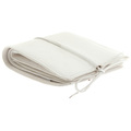 RMC Jeans Mens Italian White Grain Leather Wallet with Shoe Lace Tie Closure REDM5724