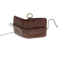 RMC Jeans  Mens Brown Italian Grain Leather Wallet with Shoe Lace Tie Closure REDM5727