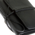 RMC Jeans Mens Italian Grain Leather 3 Fold Credit Card Mini Wallet in Black REDM5731