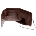 RMC Jeans Brown Leather 3 Fold Credit Card and Coin Pouch Landscape Wallet for Men REDM5740