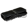 RMC Jeans Large Leather Horse Hair Bill Fold Credit Card and Coin Pouch Black Wallet REDM5758