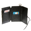 RMC Jeans Black Italian Leather Horse Hair 3 Fold Credit Card Wallet for Men REDM5764