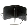 RMC Jeans Black Leather Horse Hair Wallet with Shoe Lace Tie Closure for Men REDM5767