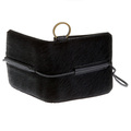 RMC Jeans Mens Black Leather Horse Hair Pouch with Shoe Lace Tie Closure REDM5770