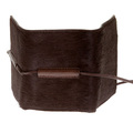 RMC Jeans Mens Brown Leather Horse Hair 3 Fold Credit Card Mini Wallet REDM5775