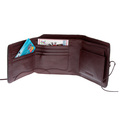 RMC Mens Brown Leather Horse Hair 3 Fold Credit Card & Coin Pouch Landscape Wallet REDM5778