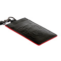 RMC Jeans Black Leather Card Holder with Red Leather Trim for Men REDM5517