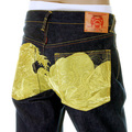 RMC Vintage Cut Limited Edition Dark Indigo Denim Dream of the Fishermans Wife Gold Embroidered Jeans REDM2975