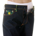RMC Martin Ksohoh Mens Vintage Cut House Selvedge Raw Denim Jeans with Work N Play Silver Embroidery REDM3730