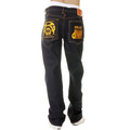 RMC Martin Ksohoh Super Exclusive Design Dark Indigo Raw Denim Jeans with Work N Play Gold Embroidery REDM3731