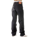 RMC Jeans Mad Patch Charcoal and Off White Embroidered Dark Indigo Raw Denim Jeans with Vintage Cut REDM3133
