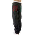 RMC Martin Ksohoh Dark Indigo Vintage Cut Raw Denim Jeans with Mad Patch Scarlet and Green Embroidery REDM3127