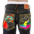RMC Martin Ksohoh Super Exclusive Dark Indigo Vintage Cut Raw Denim Jeans with Crane Go Home Embroidery REDM2898