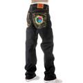RMC Jeans Super Exclusive Ribbon Embroidered Dark Indigo Raw Selvedge Vintage Cut Denim Jeans REDM2897