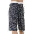RMC Martin Ksohoh super exclusive AO10 Mens Denim Shorts with Full Off White Tsunami Wave Embroidery REDM5219