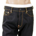 RMC Jeans Super Exclusive Huuzinn and Raizinn 1001 Model Slimmer Cut Dark Indigo Raw Denim Jeans REDM2699