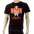 RMC Martin Ksohoh Mens Black Crew Neck Regular Fit Short Sleeve T-shirt with Japan Man Doll Print REDM3969