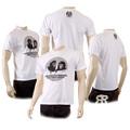 RMC Martin Ksohoh Mens Crew Neck Regular Fit White Short Sleeve T-shirt with Ape Eye Print REDM5031