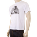 RMC Jeans Short Sleeve White Regular Fit Crew Neck T-shirt with No Monkey Business Print for Men REDM5033