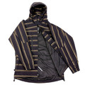 Yoropiko Martin Yat Ming Mens Black with Gold Stripe Regular Fit Hooded Functional Jacket REDM3166