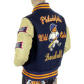 Whitesville Letterman WV11793 Philadelphia Wild Cats Stadium Jacket with Royal Blue Body and Cream Leather Sleeve WHIT4228A