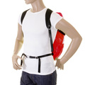 RMC MKWS Red Unisex Lightweight Nylon Backpack with Self-coloured Signature Logo on Top Flap REDM2129