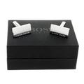 Hugo Boss Cufflinks silver logo 50199433 BOSS1682