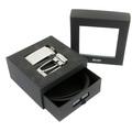 Boss Black Belt set 50196370 Grundlo boxed Hugo Boss black leather belt set BOSS1688